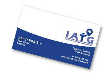 sample iatg business card