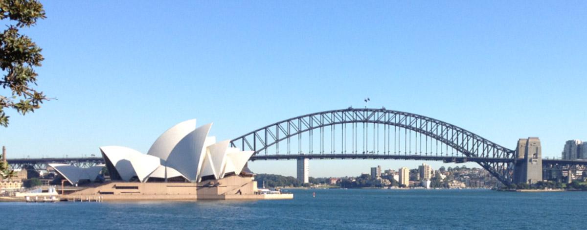 sydney icons the harbour bridge and opera house